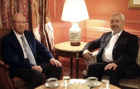 Tunis : Béji Caïed Essebssi président ? dans Actualité caid_essebsi_ghannouchi_paris_banniere_8_18