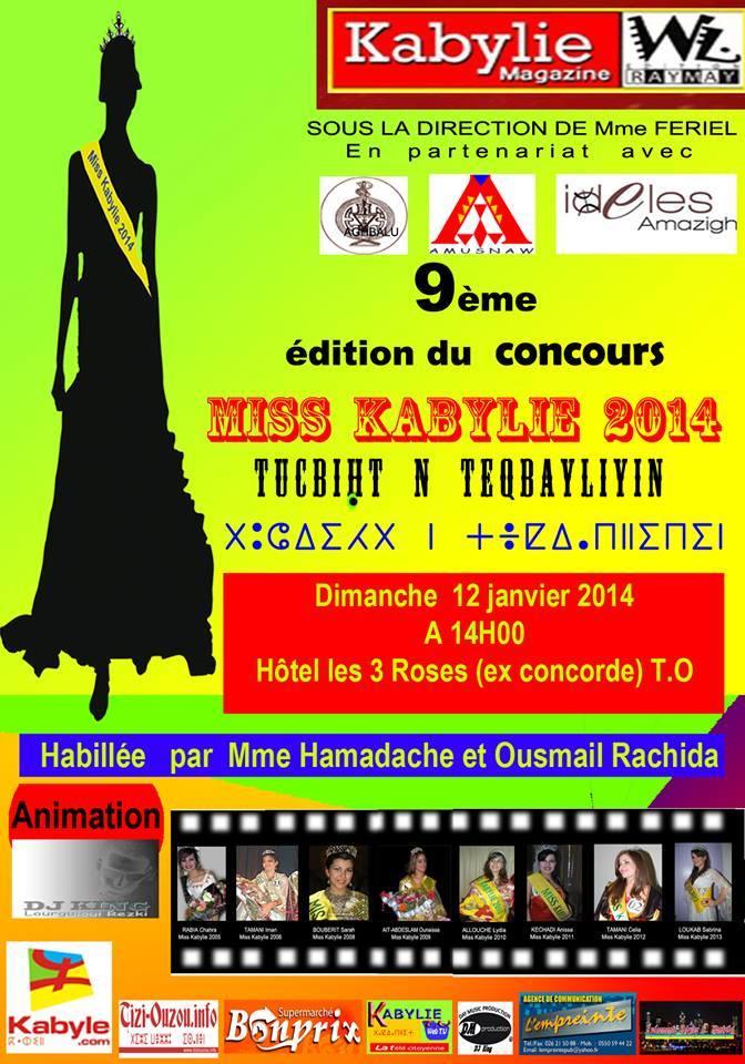la 9eme édition de « la Miss Kabylie »